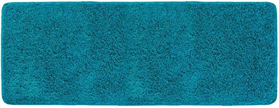 mDesign Soft Microfiber Polyester Non-Slip Extra-Long Spa Mat/Runner, Plush Water Absorbent Accent Rug for Bathroom Vanit...