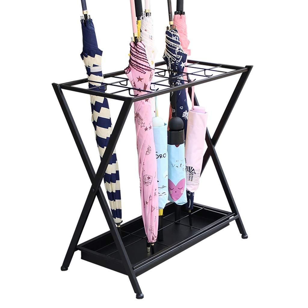 YANYUN傘立て 傘スタンド - ホテルロビービジネス大容量の傘は、18の穴10フック折りたたみストレージ60x44x24cmスタンド
