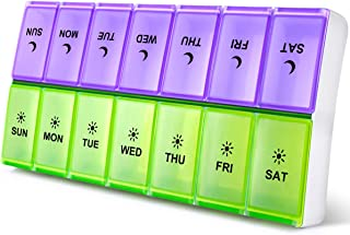DANYING Extra Large Pill Organizer 2 Times a Day, Weekly Pill Box, AM PM Pill Case, Pill Container 7 Day, Vitamin Case Twice a Day