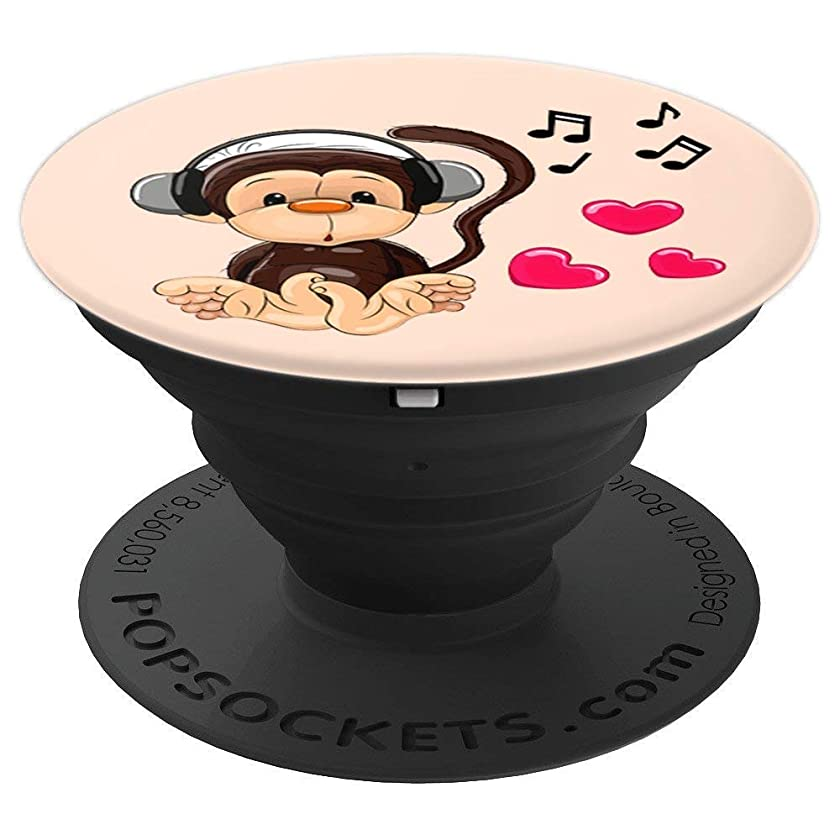 Best cool cute monkey listen music headphone popsocket - PopSockets Grip and Stand for Phones and Tablets