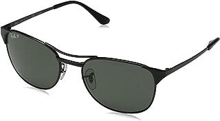 Signet RB3429 002/58 Sunglasses Black Frame 55mm w/ Polarized Crystal Green Lens