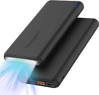 Batería Externa 30000mAh con Linterna 4 Puertos USB Banco de Energía Portátil Cargador Portátil y Aspecto Elegante para Teléfonos Móviles y Otras Electrónicas