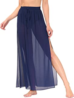 Kate Kasin Women Summer Swimsuit Sarong Long Cover Up Skirt Sexy Beach Wrap Plus Size