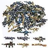 50pcs Weapons Gun Toy Camouflage- Designed for Active Mini Figures Gun Building Block Toy