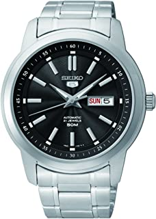 Seiko Men SNKM87K Year-Round Analog Automatic Silver Watch