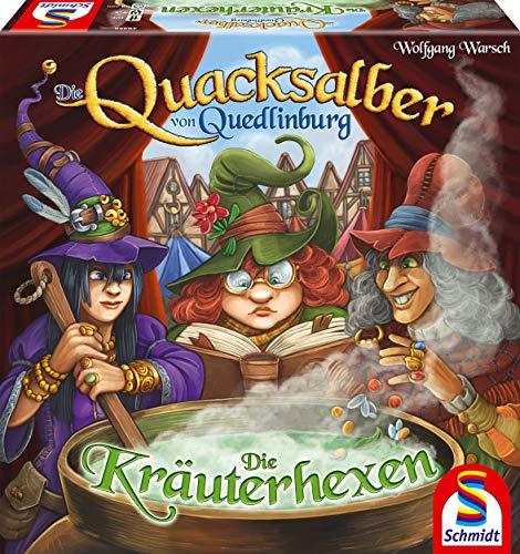 Schmidt Spiele 49358 Die Quacksalber von Quedlinburg Die Kräuterhexen, Erweiterung zum Kennerspiel das Jahres 2018, bunt