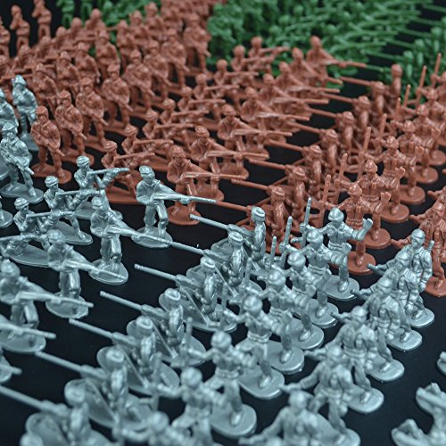RAINBOW TOYFROG Army Men Play Bucket-Soldiers of WWII-Over 300 Piece Set