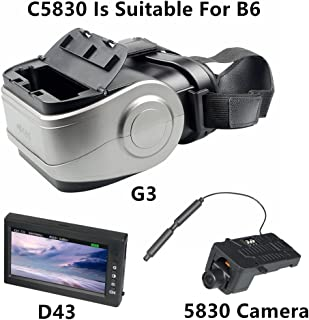 RONSHIN Toy and Game MJX B3 B6 B8 B8PRO RC Helicopter Spare Parts C5830 Camera D43 LCD Screen G3 Goggles 5.8G FPV Real-time Image Transmission G3+c5830+D43