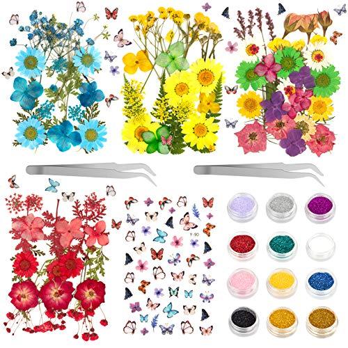 Flores Secas Manualidades Resina flores secas  Marca OMEW