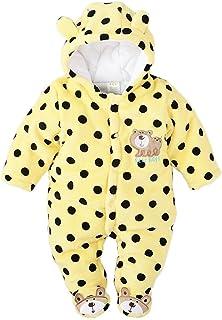 Minetom Herbst Winter Verdickte Overalls Baby Mädchen Jungen Overall Cartoon Coral Fleece Kinderkleidung Warm Einteiler Spieler