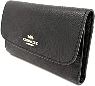 Pebbled Medium Envelope Wallet Black F30204