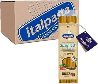 Italpasta Spaghetti Pasta Orgánica con Vegetales, 500 gr, 12 Paquetes