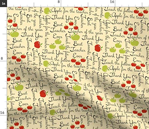 Spoonflower Fabric - Teacher You Appreciation Printed on Petal Signature Cotton Fabric by The Yard - Sewing Quilting Apparel Crafts Decor