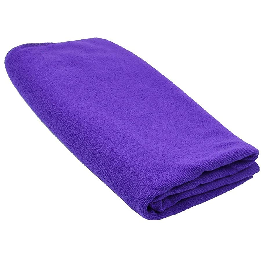 高い宿ビバSODIAL(R) 耐久性がある速乾性マイクロファイバーバスタオル 旅行 ジム キャンプ スポーツ用 紫