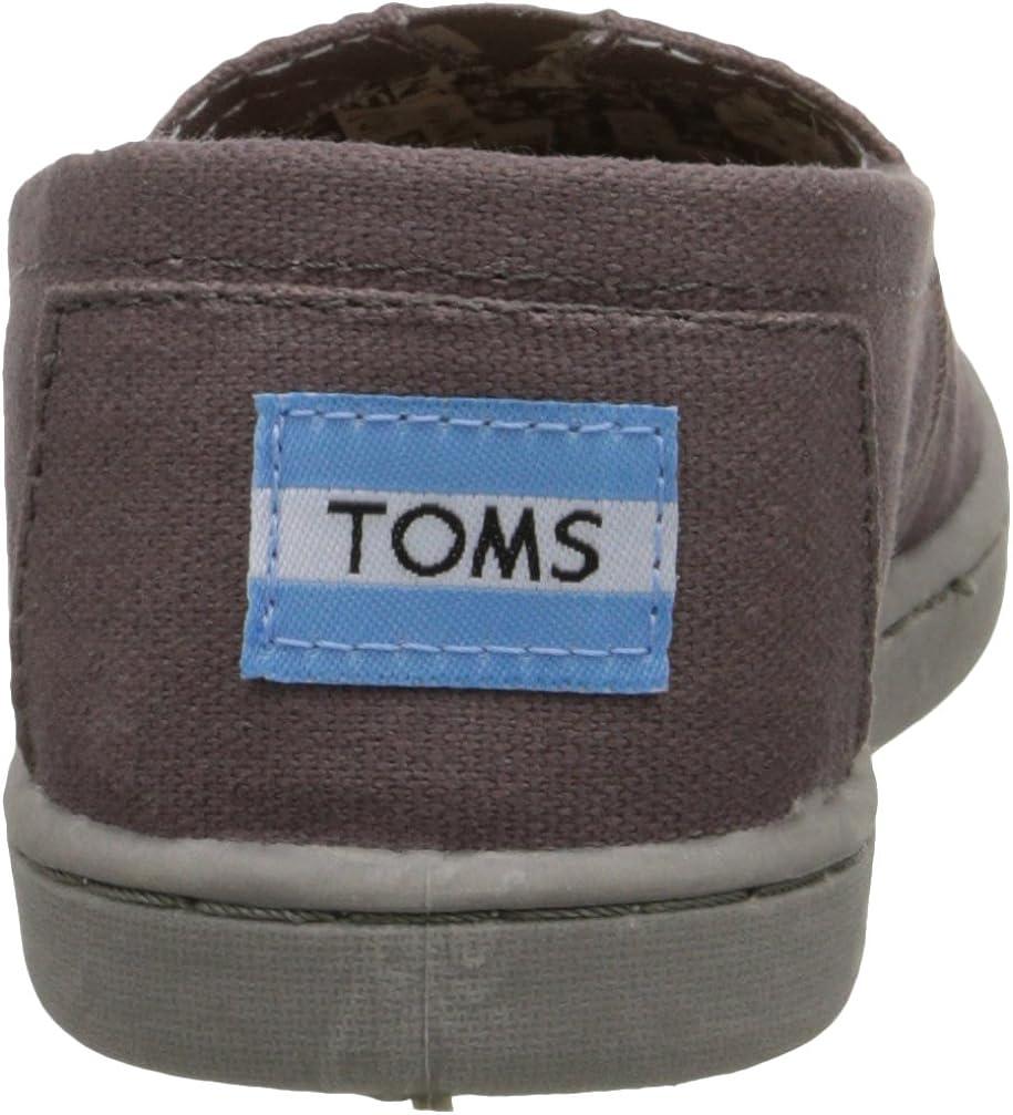 TOMS Unisex-Child Ash Canvas Classic Youth Kids Alprg 012001c13-ash