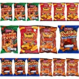 HERR'S Blue Cheese, Honey, Jalapeno Poppers, Hot 'N Honey Flavored Cheese Curls - Variety Pack, Gluten-Free, 1oz Bag (Pack of 12, Total of 12 Oz)