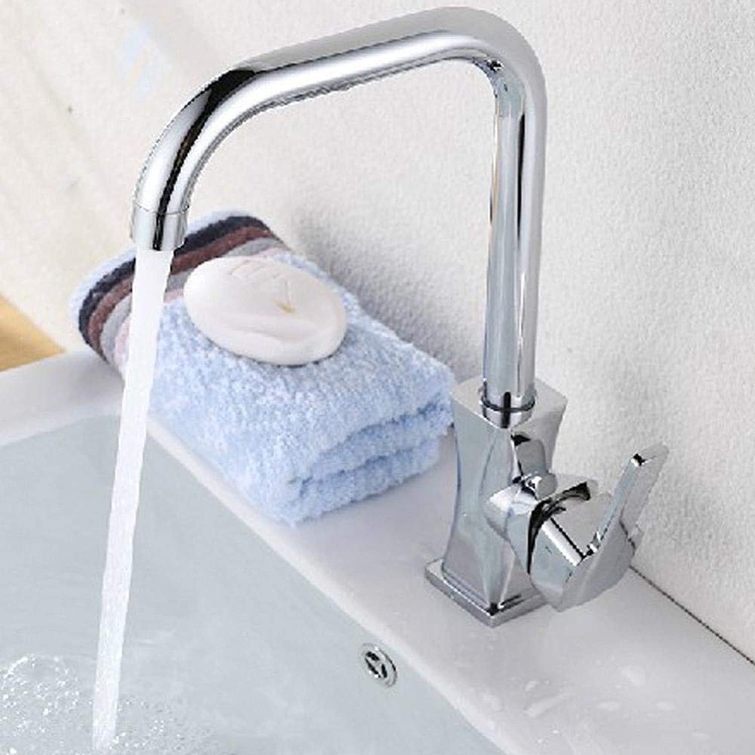 Qpw Hot and Cold Kitchen Faucet Sink Vegetable Basin Aggravating Single Hole Faucet