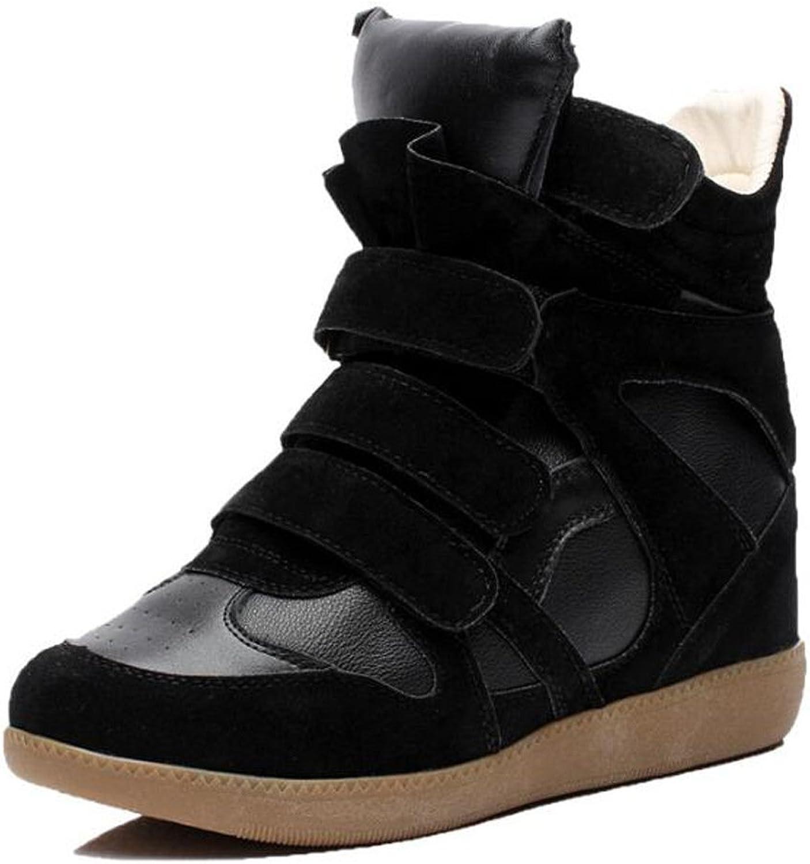 PP Fashion High Top Paltform Wedge Women's Hidden Heel Cansual Sneaker Vogue shoes Black