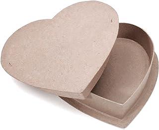 "Darice Paper Mache Box-Heart 12"""