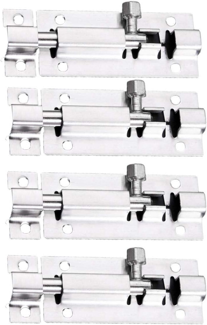 Security Slide Latch Alternative dealer Lock Stainless Steel NEW before selling ☆ Brushed Finish Slidin