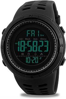 Reloj digital deportivo para hombre, reloj militar resistente al agua, reloj de pulsera electrónico casual con cronómetro luminoso con alarma LED
