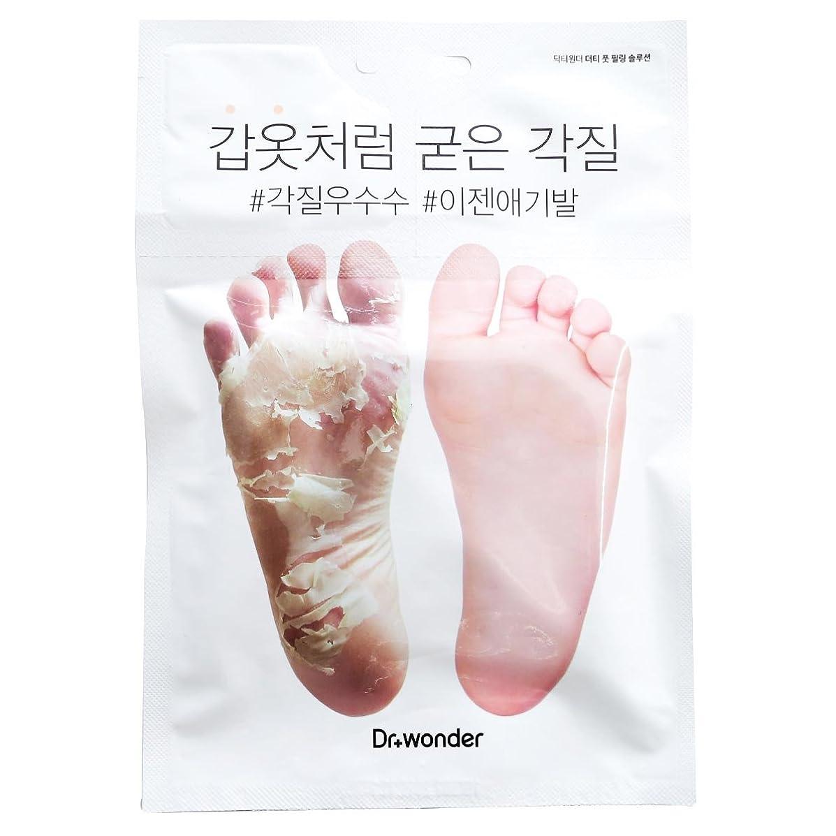 講義予感汚染された[ドクターワンダー/ Dr+ wonder] Good Bye, Dirty Foot! Doctor Wonder Crocodile Foot Mask Pack / ドクターワンダーワニバルペク/鎧のような硬い角質!もう赤ちゃんの足+[Sample Gift](海外直送品)