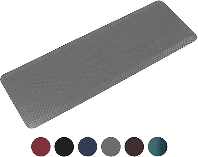 Anti Fatigue Comfort Floor Mat By Sky Mats Commercial Grade Quality Perfect For Standup Desks Kitchens And Garages Relieves Foot Knee And Back Pain 24x70x3 4 Inch Gray