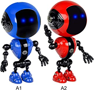 rui tai Rechargeable Children Touch Sensor LED Music Smart Mini Alloy Robot with Movable Joints USB Charging Kids Toy Gifts
