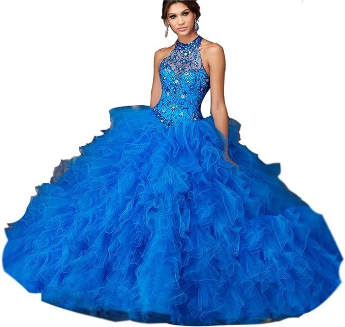 Tianshikeer Glitzer Ballkleider Madchen Prinzessin Quinceanera Kleider Amazon De Bekleidung
