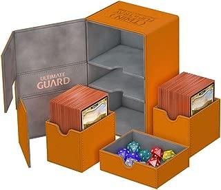 Ultimate Guard - Deck Box: Twin Flip N Tray Xenoskin 160 Orange