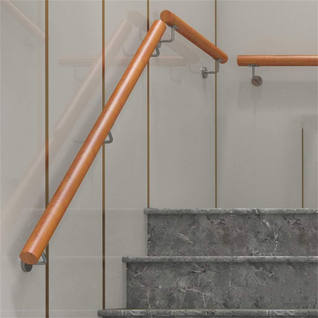 30-600cm. Pasamanos - Kit Completo. para Interiores y Exteriores, Escaleras de Madera Pasamanos Escalera Soporte de riel de barandilla - con Soporte de Acero Inoxidable: Amazon.es: Hogar