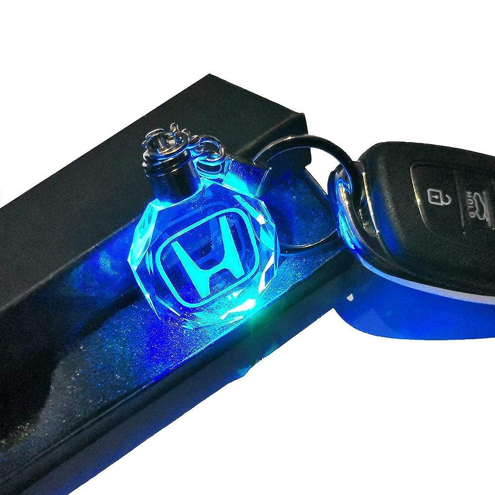 コウモリ故国するだろうVILLSION ホンダ7変色車のロゴキーバックル LED ランプ HONDA キーチェーン車のインテリアペンダントアクセサリー