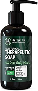 Antifungal Antibacterial Soap & Body Wash - Natural Fungal Treatment with Tea Tree Oil for Jock Itch, Athletes Foot, Body ...