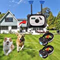 OKPET Wireless Dog Fence Containment System, Safe Effective Dog Fence, Dual Antenna Stronger Stabler Signal 100 Levels, New Technology Applied for US Patent (2 Collar Kit + 14 Flags)