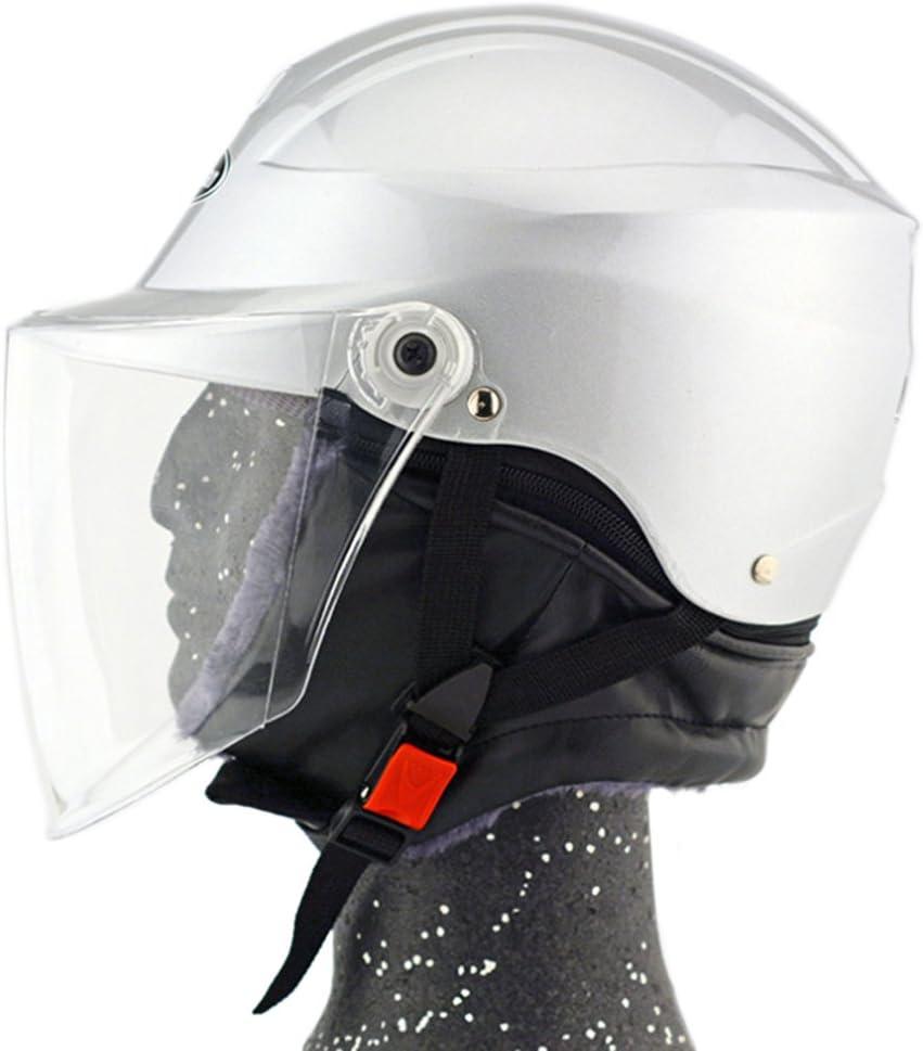 Moto Moto Scooter Moto Cyclomoteur Vélo électrique automobile Tête travail protection sécurité bedeckung Helmet Chapeau d'hiver 301–1Argent