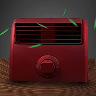 L&T 3 En 1 Personal Enfriador De Aire,Mini Ventilador De Escritorio Climatizador Evaporativo,Doble Turbo Bladeless Ventilador Aire Acondicionado Rojo