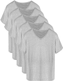 インナーシャツ メンズ Tシャツ 半袖 吸水速乾 5枚組 肌着 無地 Vネック 防菌防臭 クセになる肌触り 対応 服