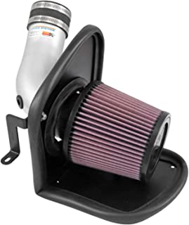 K&N Cold Air Intake Kit with Washable Air Filter:  2013-2019 Ford/Lincoln (Escape, MKC) L4, Polished Metal Finish with Red Oiled Filter, 69-3537TS