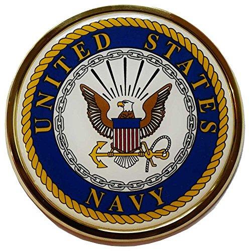U.S. Navy Crest Chrome Auto Emblem