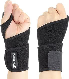 PYKES PEAK 手首サポーター 両手セット 手首 固定 リストラップ 腱鞘炎 ねんざ 手根管症候群 保護 フリーサイズ 男女兼用