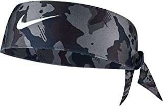 NIKE Printed Dri-Fit Head Tie 2.0 (One Size, Camo Dark Grey/Black/White)