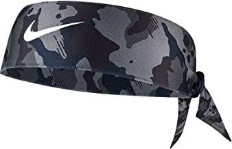 NIKE Printed Dri-Fit Head Tie 2.0 (One Size, Camo Dark Grey/Black/White)