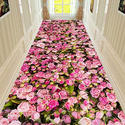 Stillshine. 3D Area Rugs Dolphin Rose Flower Garden Galaxy Star Print Floor Chair Door Mat Washable Non-Slip Indoor Living Room Bedroom Hallways Kitchen Carpet Rugs Pads Pink Blue Green (D,50 x80 cm)
