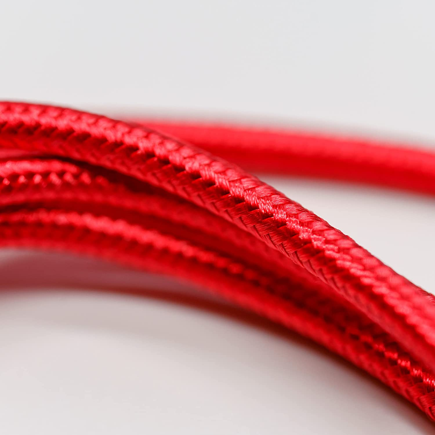 TechTock 540 Degree Rotating Cable with 3 Magnetic Tips, The Last Cable, Compatible with Type-C, Lightning, Micro-USB, Updated 2021 (Red, 1M)