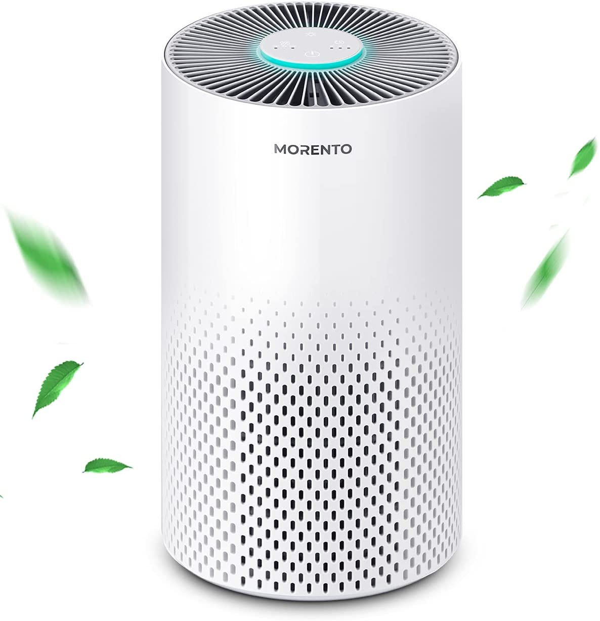 MORENTO Air Purifiers for Home, H13 True HEPA Filter Air Cleaner Purifiers for Bedroom, 24db Filtration System for Large Room for 99.97% Pets Danger, Dust, Smoke, Odors, Pollen, White