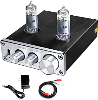 FX AUDIO Vacuum Tube Preamp—Mini Electronic Hi-Fi Stereo 6K4 Tube Preamplifier with Bass & Treble Control for Home Audio P...