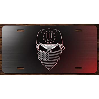 3 Percenter 2nd Amendment Vanity Front License Plate Tag KCE039 KCD