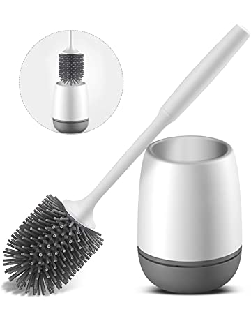Siumir Cepillo para Inodoro y Portaescobilla de Inodoro Blanco Escobilla de Ba/ño Suelo//Montaje en Pared Escobilla WC para Limpieza