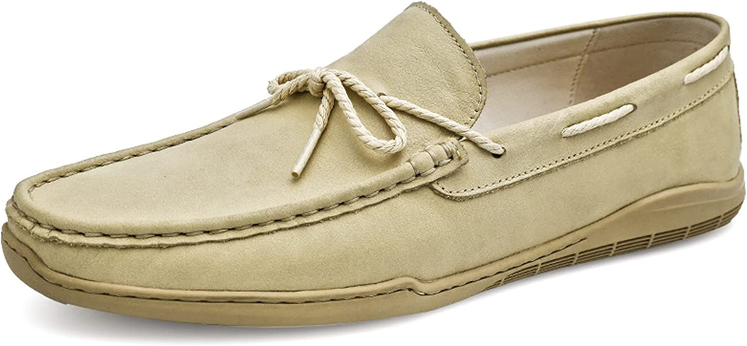 Mens Driving Loafer Shoes Climbing Relaxation Bow Square Toe Slip-ons Bridegroom Flat Loafers Moccasins