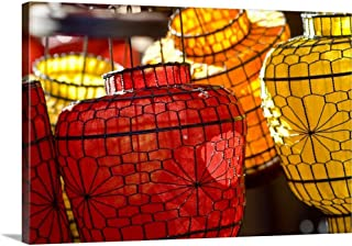 GREATBIGCANVAS Gallery-Wrapped Canvas China, Beijing, Decorative Lanterns Found in The Market Place by Ray Laskowitz 18